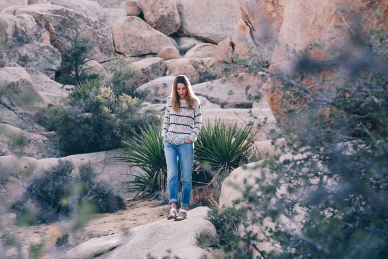 STRIPE KNIT SWEATER IN JOSHUA TREE