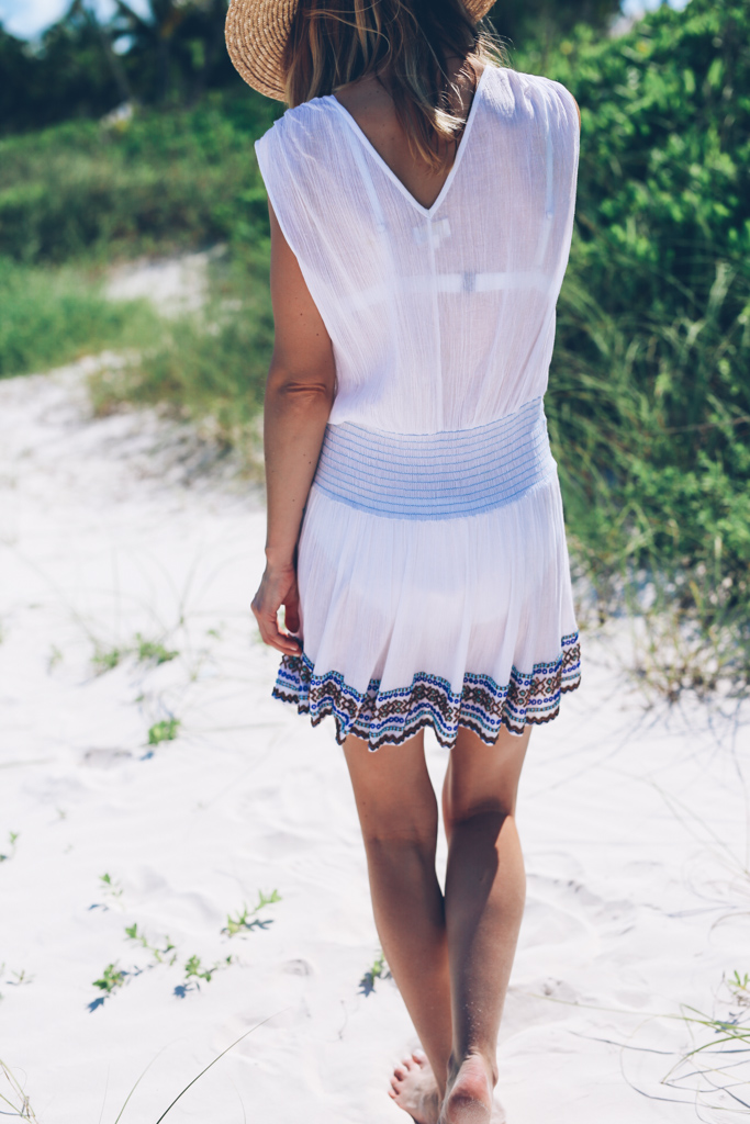 BEADED COVER UP DRESS