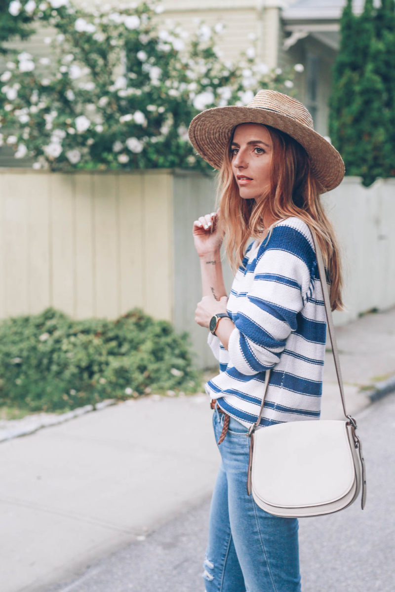 Straight Leg Jeans and Lace Up Flats