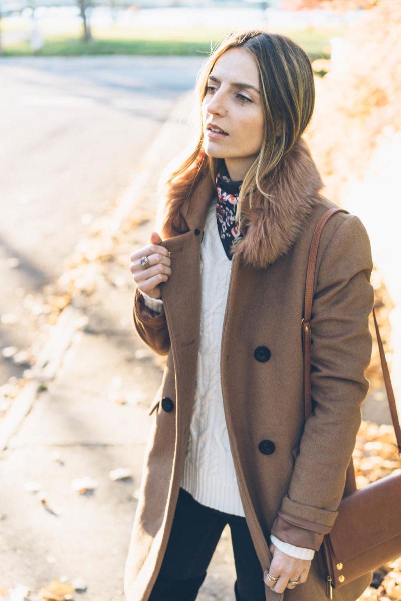 An Easy Way to Wear a Silk Scarf