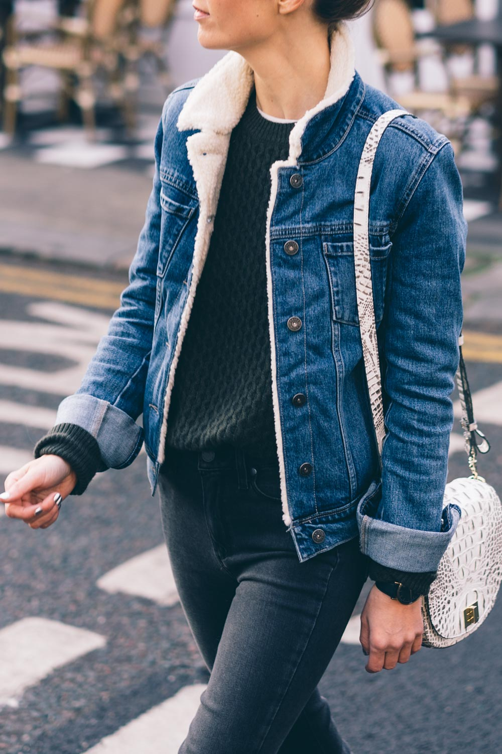 Quilted Faux Leather Jacket