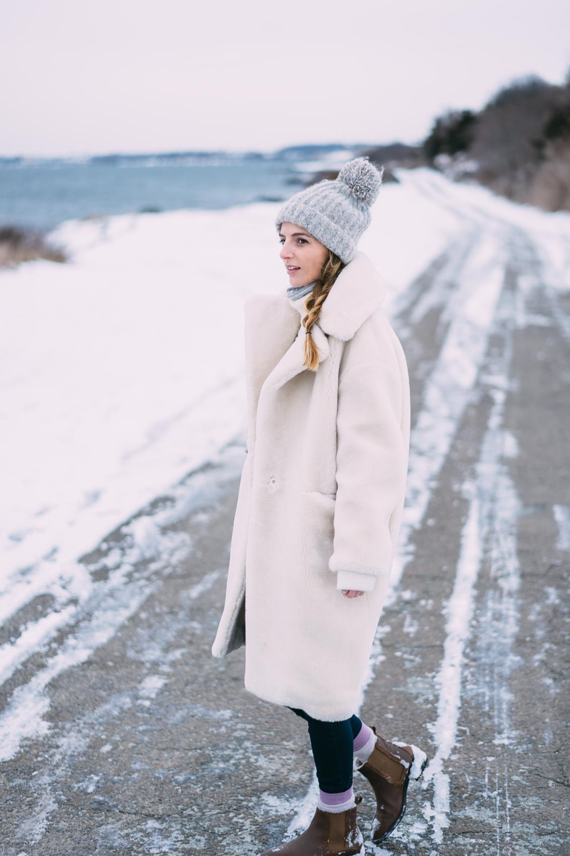 White winter coats for sale