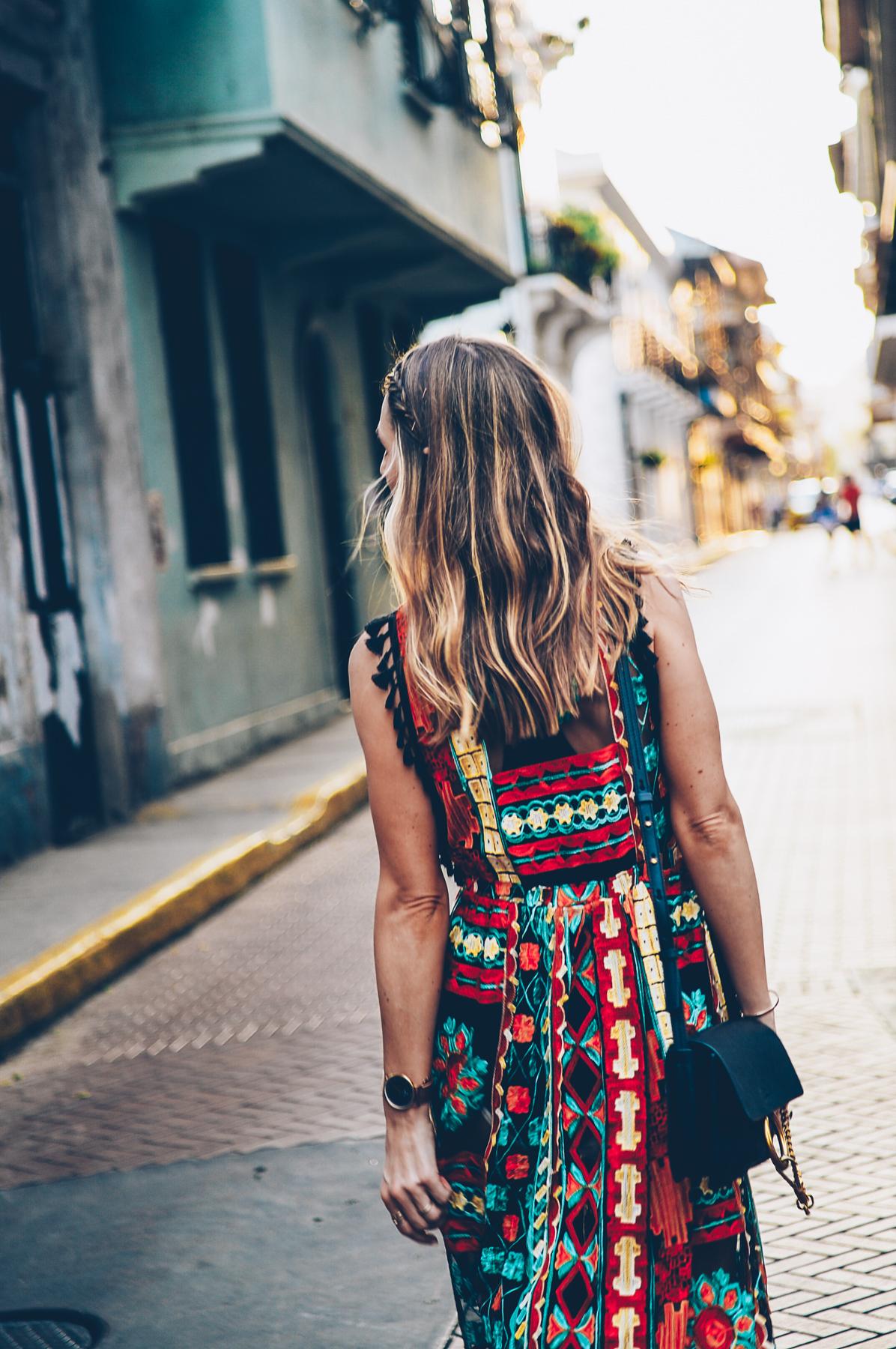 Eva Franco Saskia Embroidered Dress from Anthropologie on Jess Ann Kirby in Panama