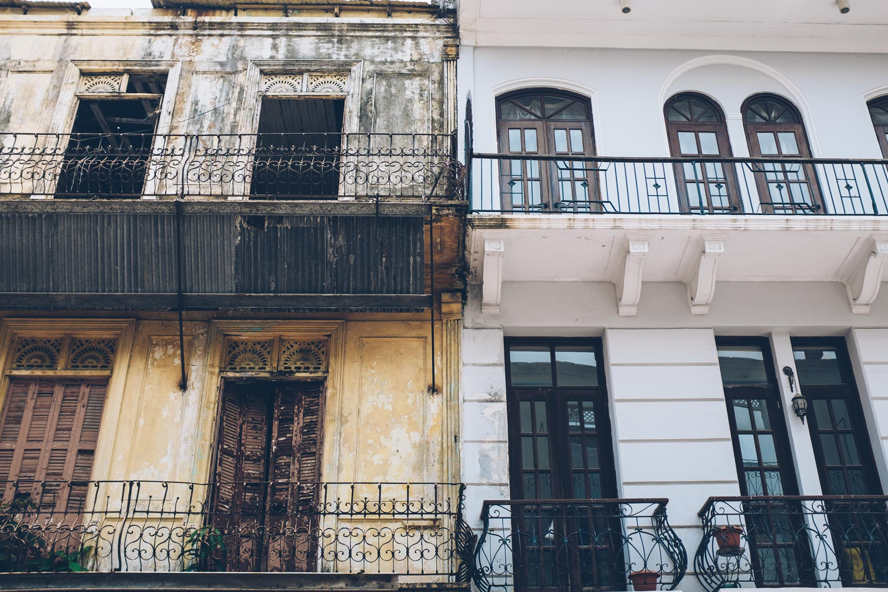 Architectural details in Casco Viejo, Panama City