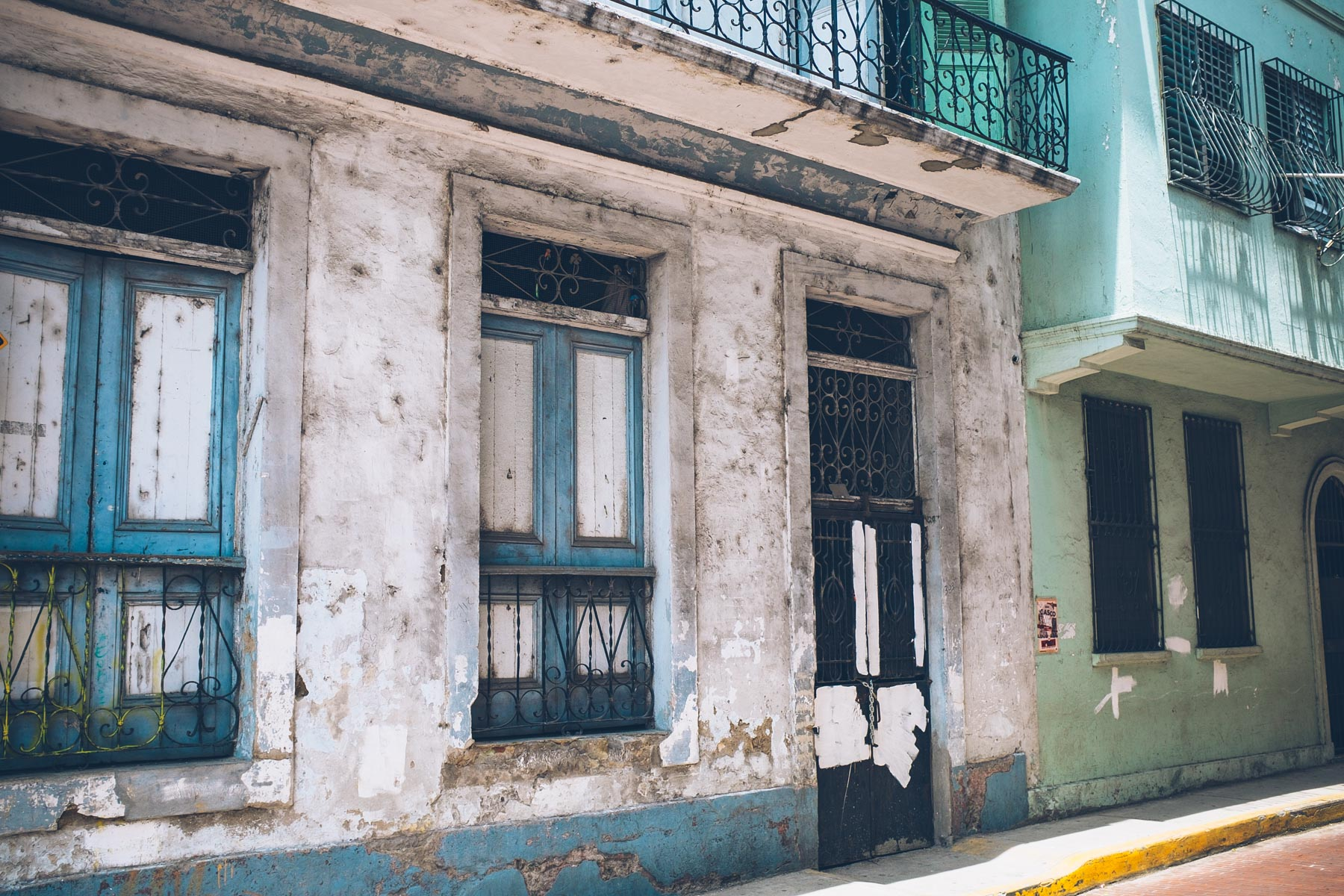 Beautiful old buildings in Casco Viejo, Panama City