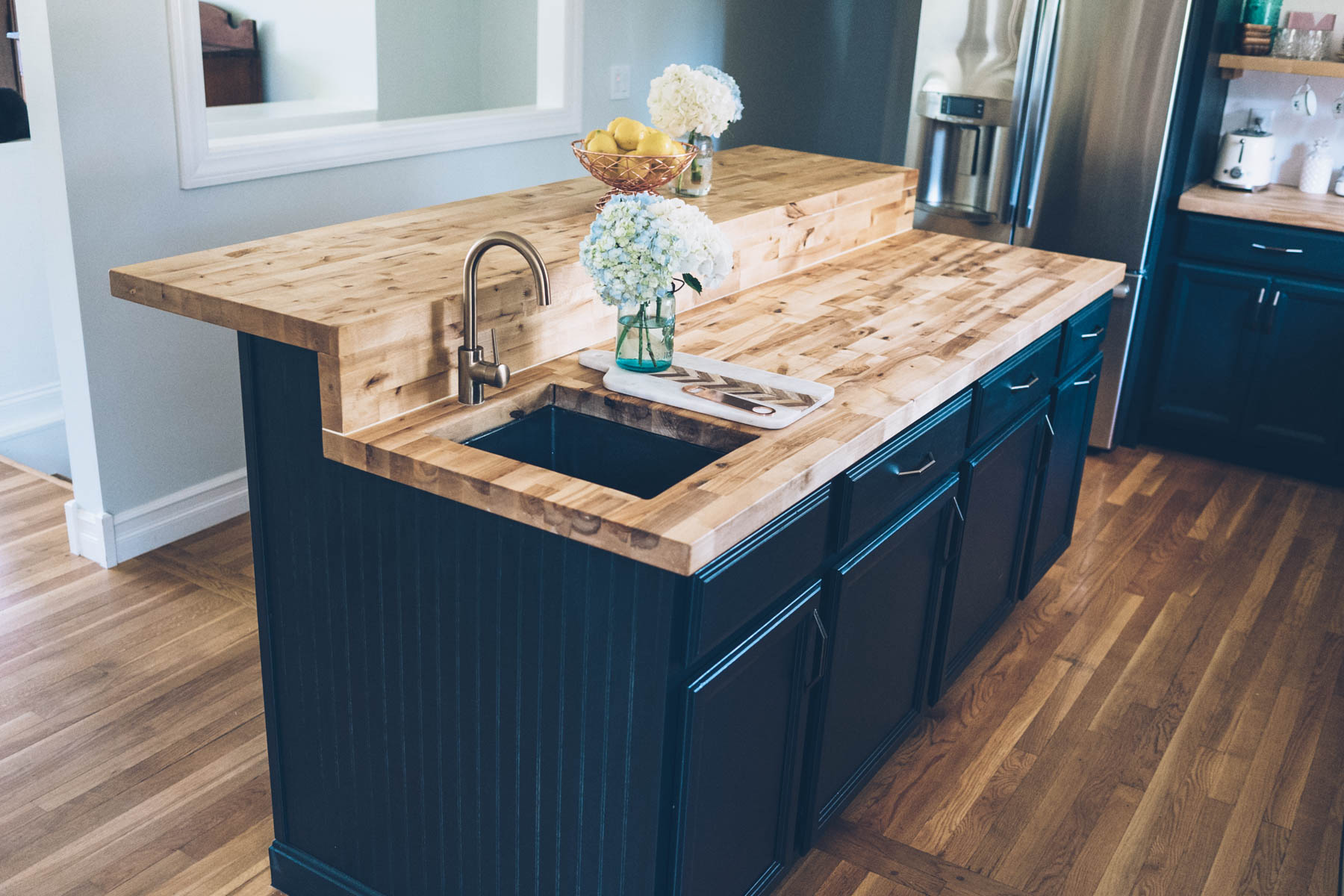 butcher countertop made s godet and butcherblock by custom furniture block woodcrafts