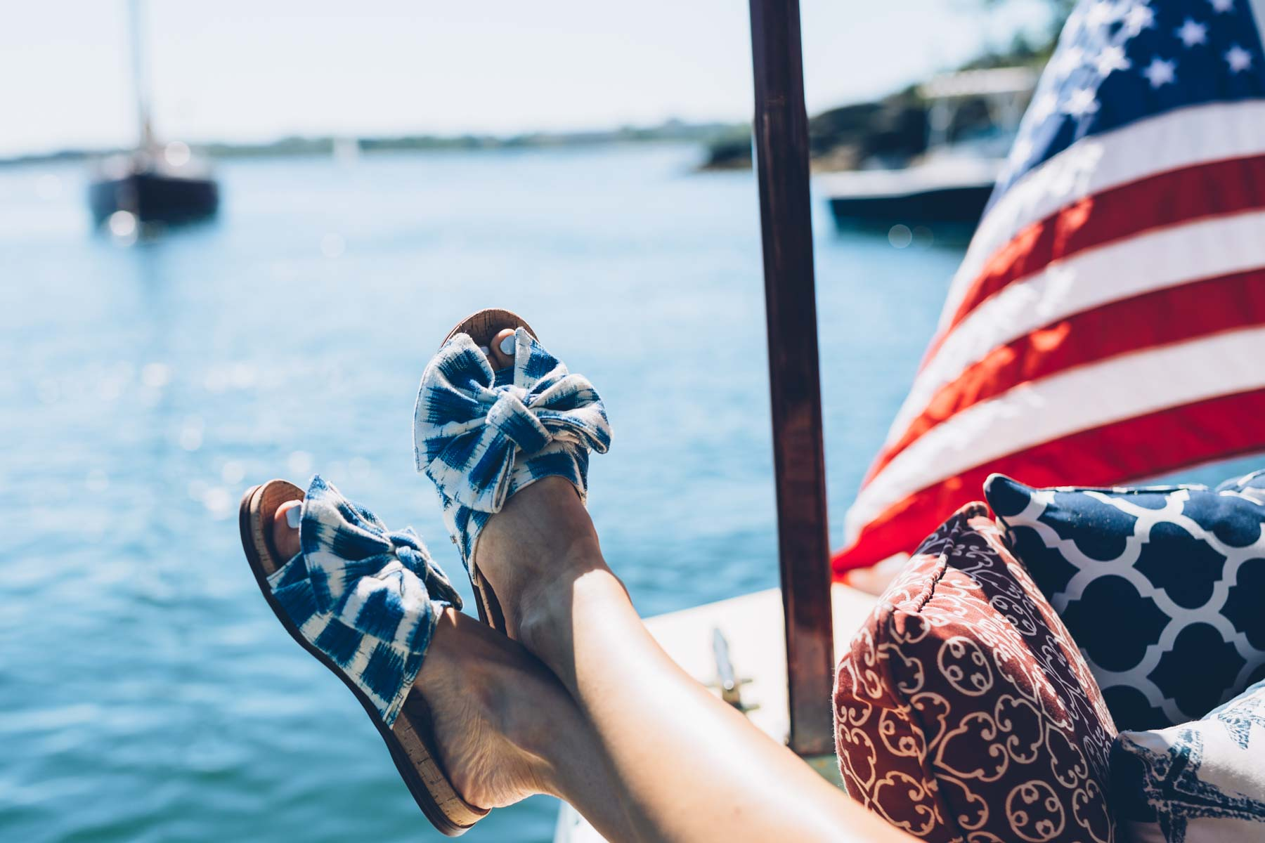 Sam Edelman Gingham Bow Sandals perfect for summer on Jess Kirby