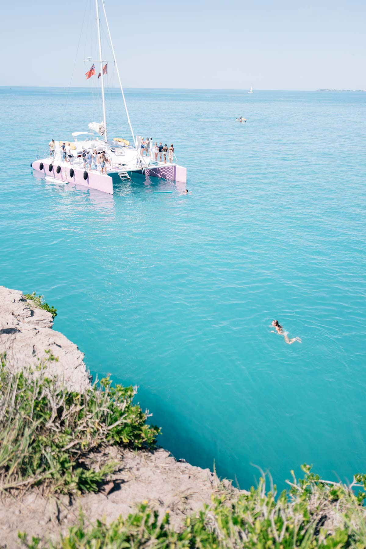 Jess Ann Kirby goes Cliff Jumping at Admiralty Park in Bermuda