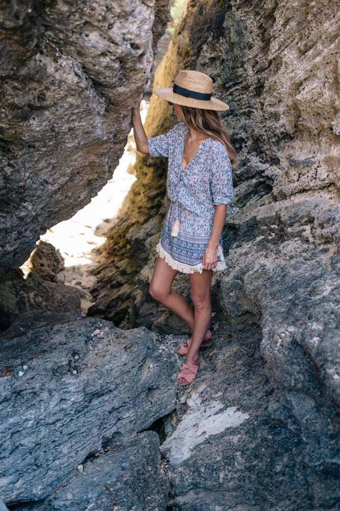 Jess Kirby wearing a Coolchange Chloe tunic from Shopbop in Bermuda