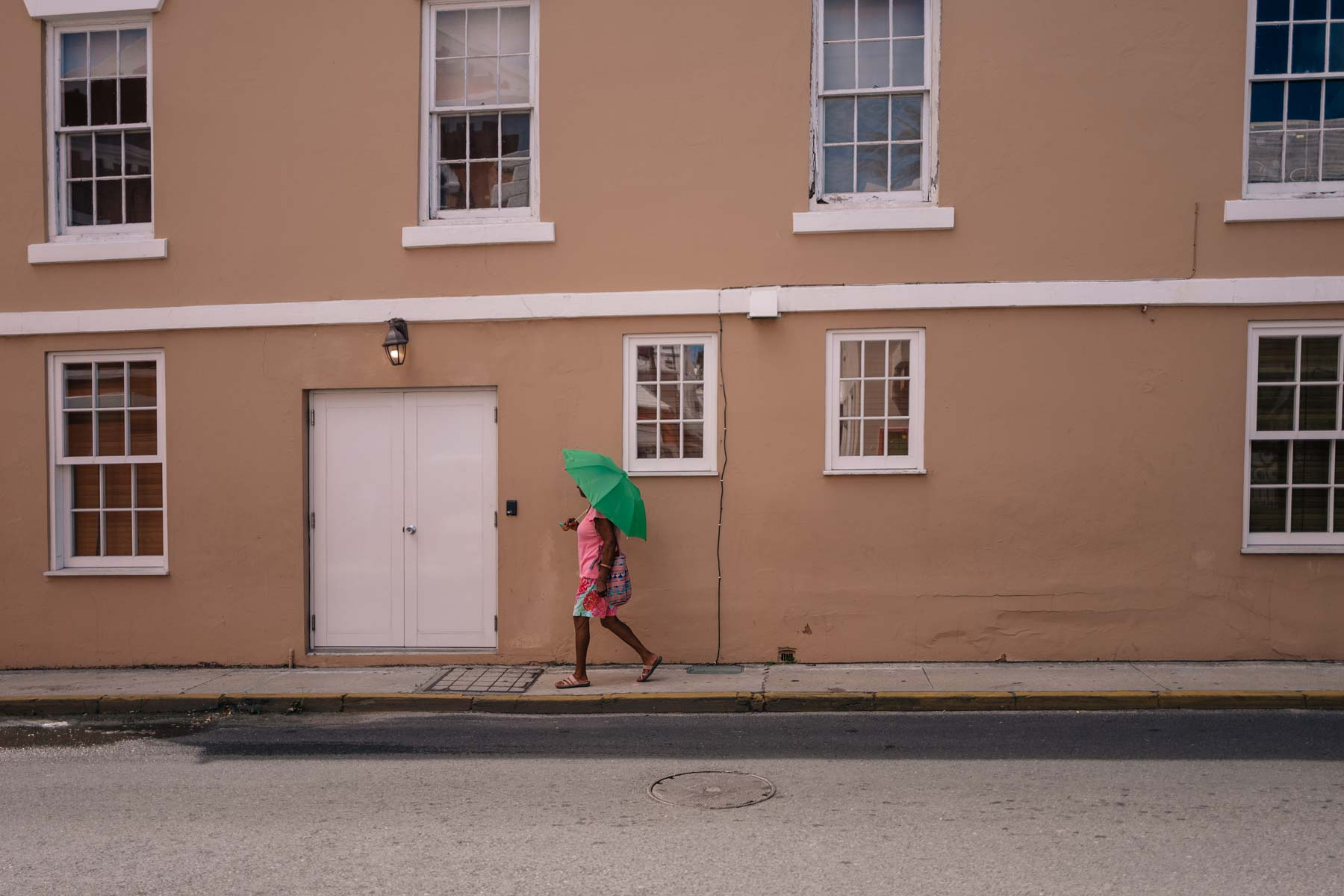 A local woman in Saint George Bermuda
