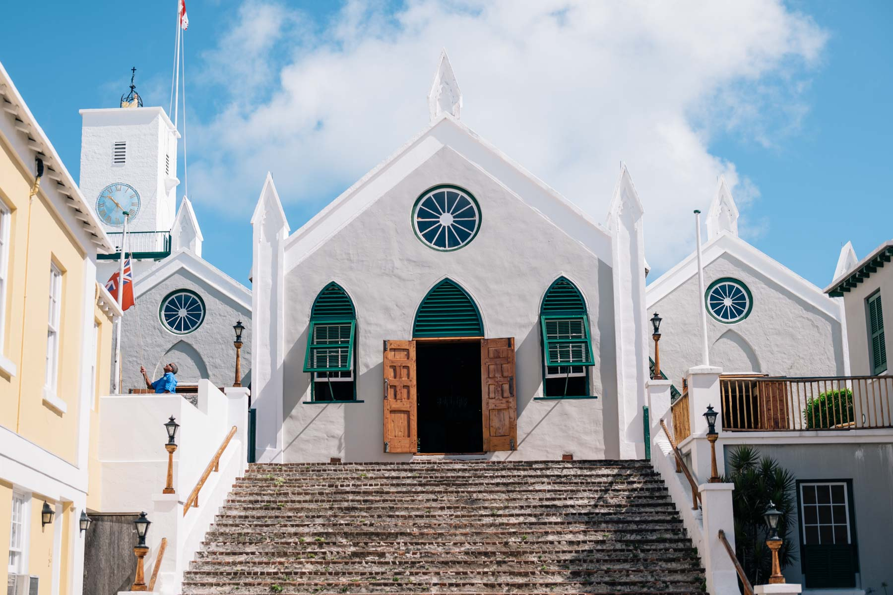A beautiful old church on Saint Georges Island in Bermuda