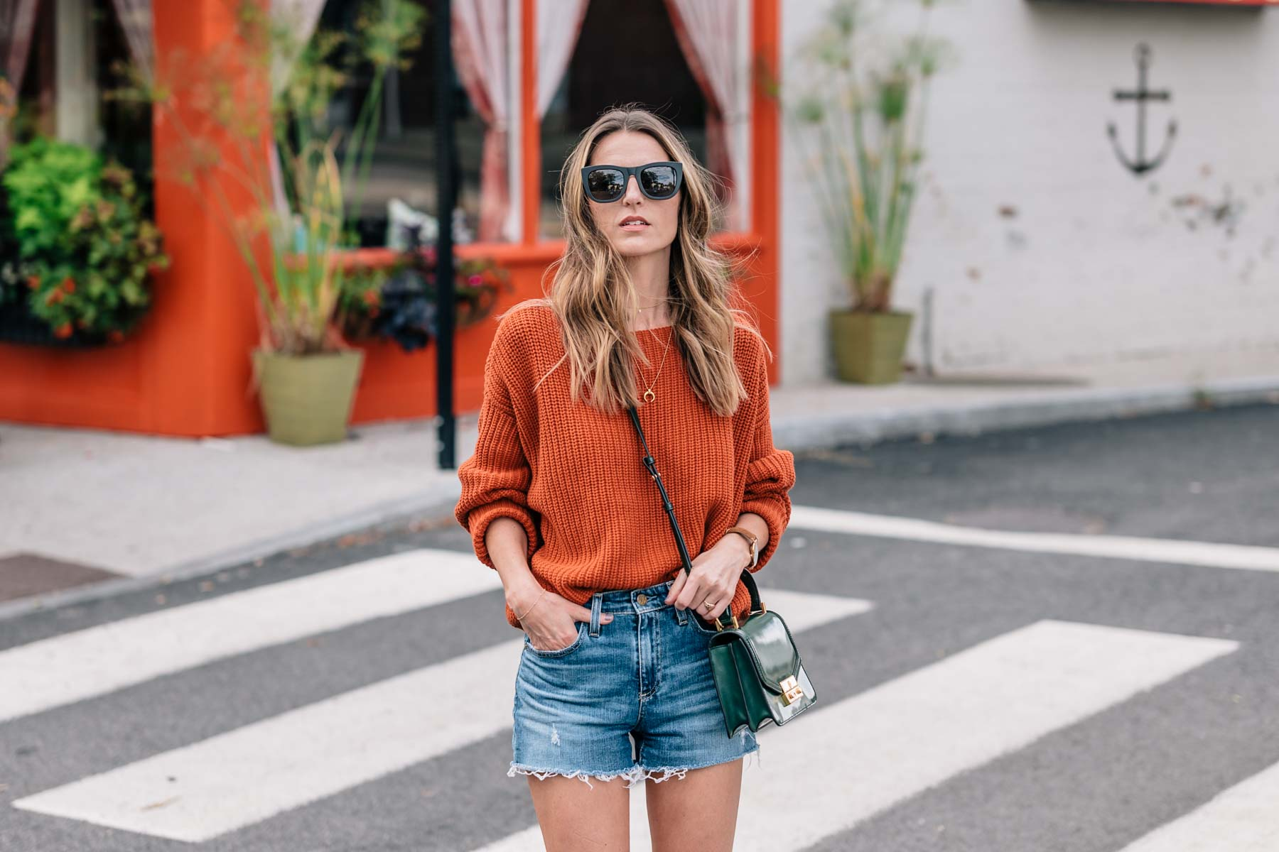 Jess Ann Kirby in fall color trend pantone autumn maple