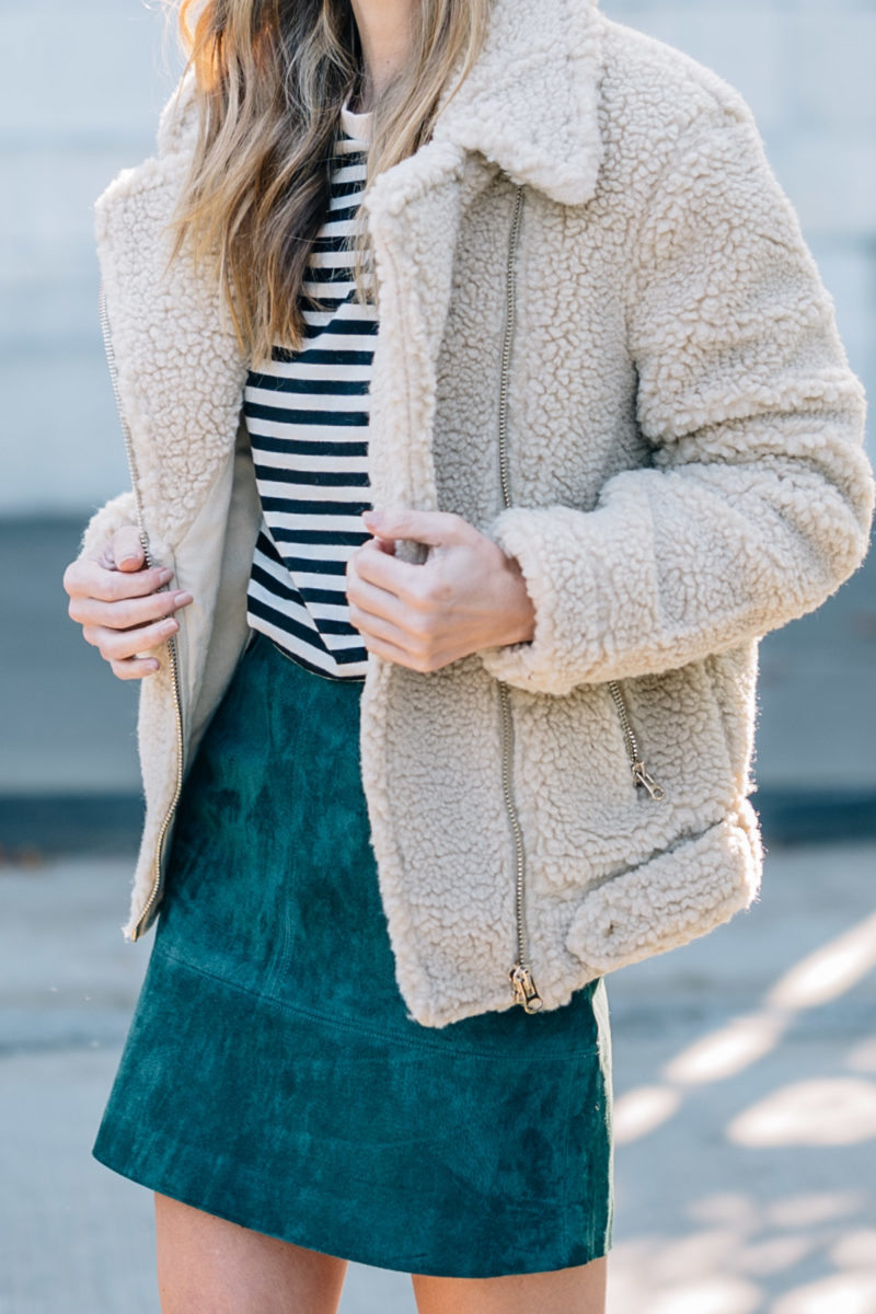 Fall Favorites: Stripes, Suede, Shearling