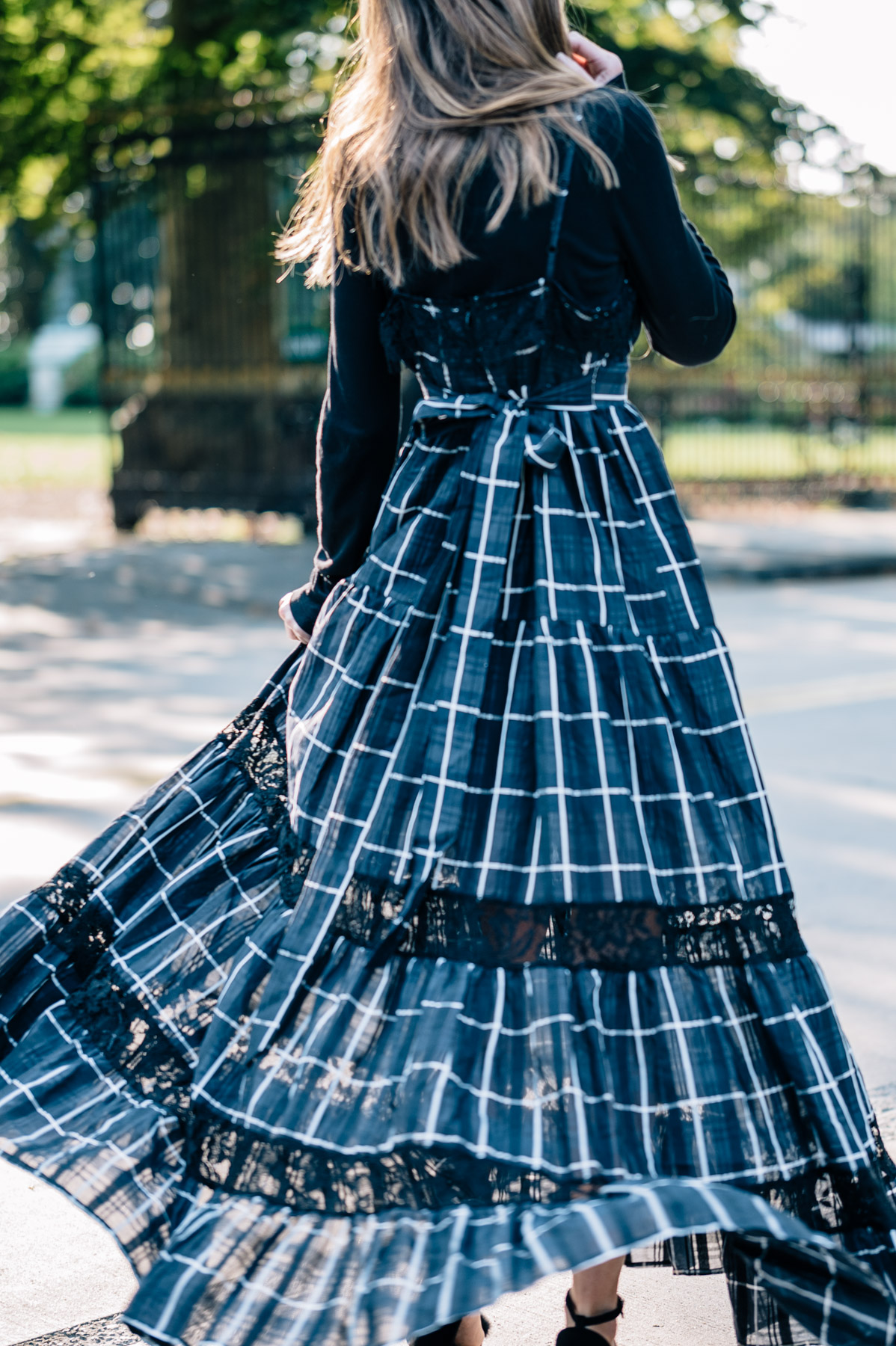 The Vetiver communication breakdown maxi dress from Shopbop on Jess Kirby for fall wedding style