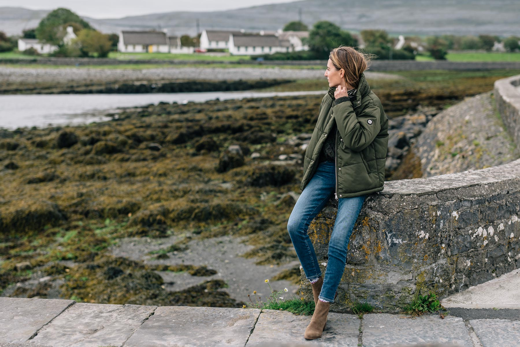 Jess Ann Kirby in Ballyvaughan during a Wild Atlantic Way road trip
