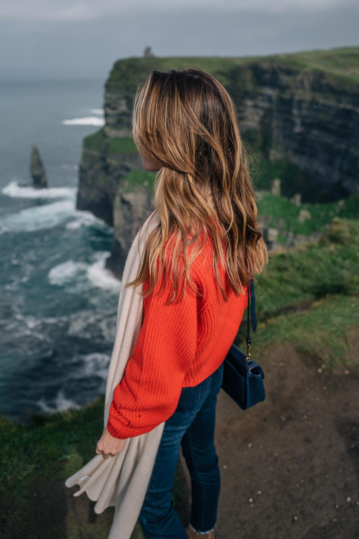 Jess Kirby at Cliffs of Moher in Ireland