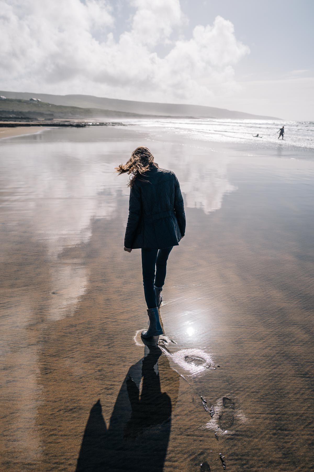 Jess Ann Kirby at Fanore Beach in Ireland