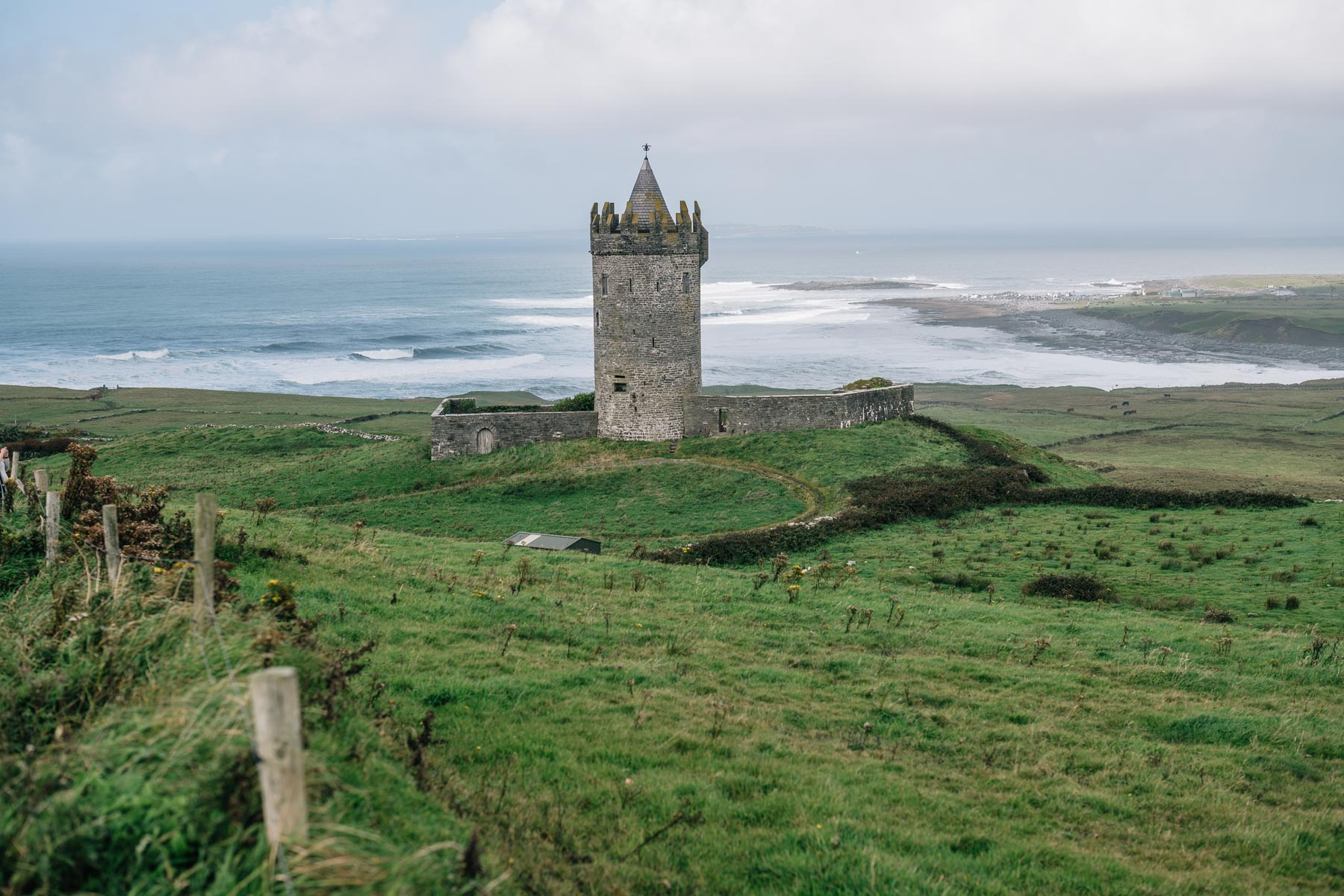 Doonagore Castle in Doolin on the Wild Atlantic way road trip in Ireland