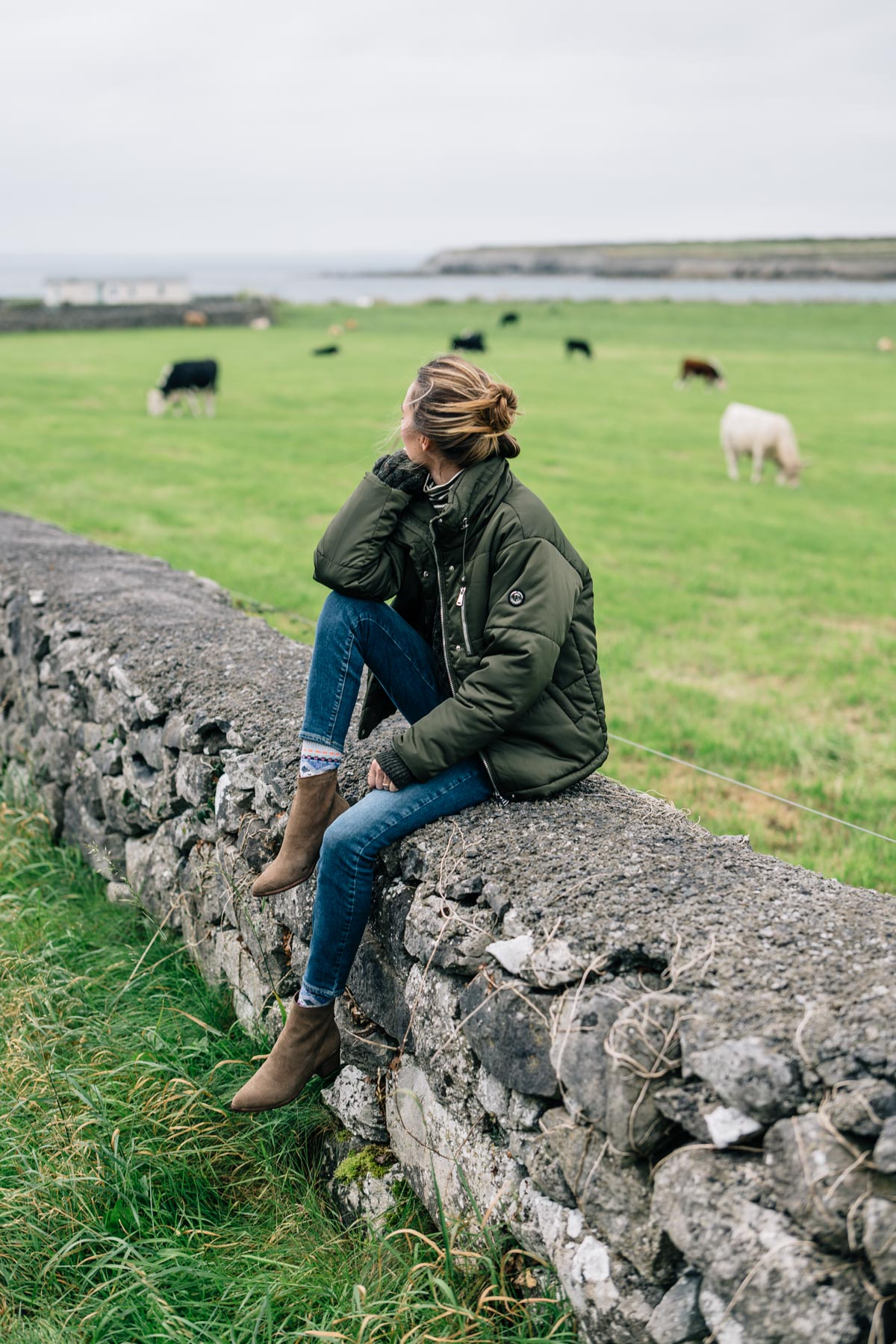 Ireland Travel Diary, Jess Ann Kirby at the Flaggy Shore on the Wild Atlantic way