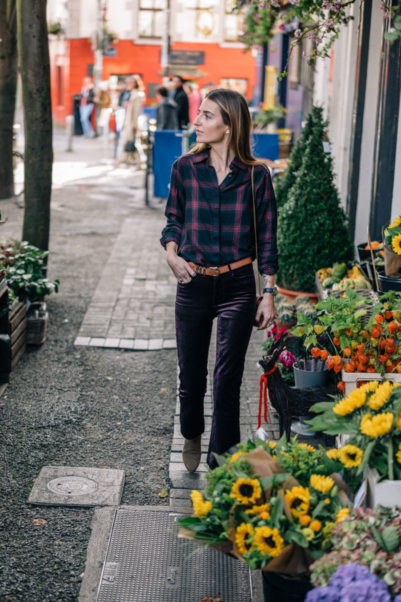 How to Style Velvet Pants for Fall