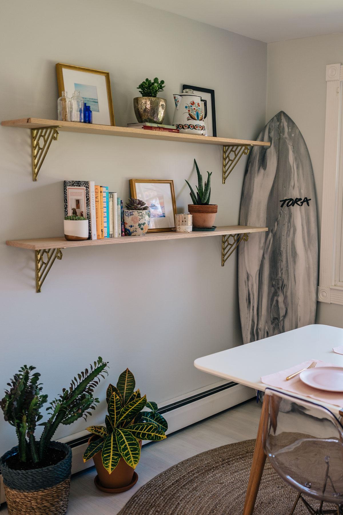 Jess Ann Kirby Wood Open Shelving Styling Dining Room   Jess Ann Kirby