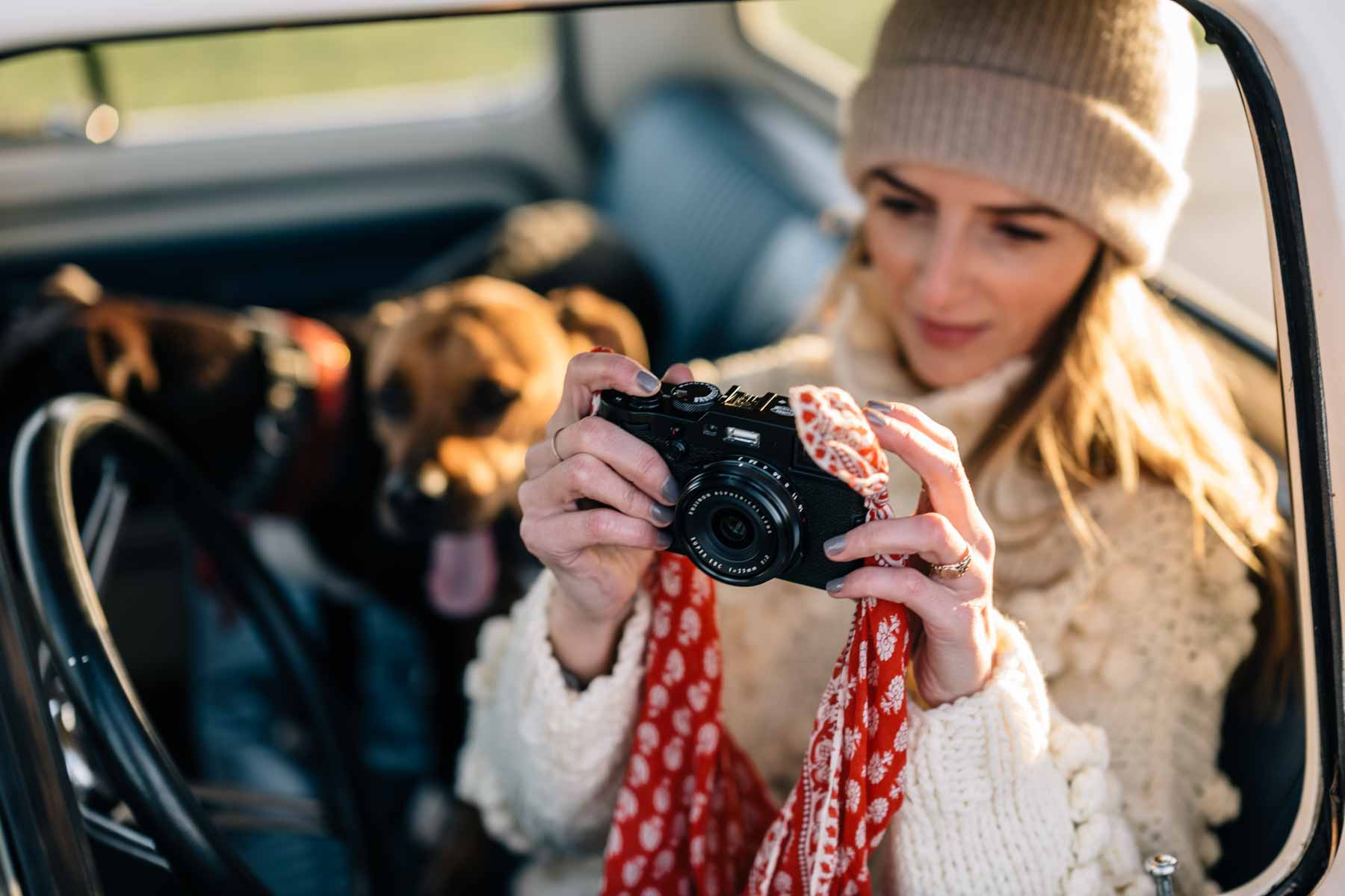 Jess Ann Kirby shares her favorite affordable cameras, like the Fujifilm X100F that she purchased from Ebay