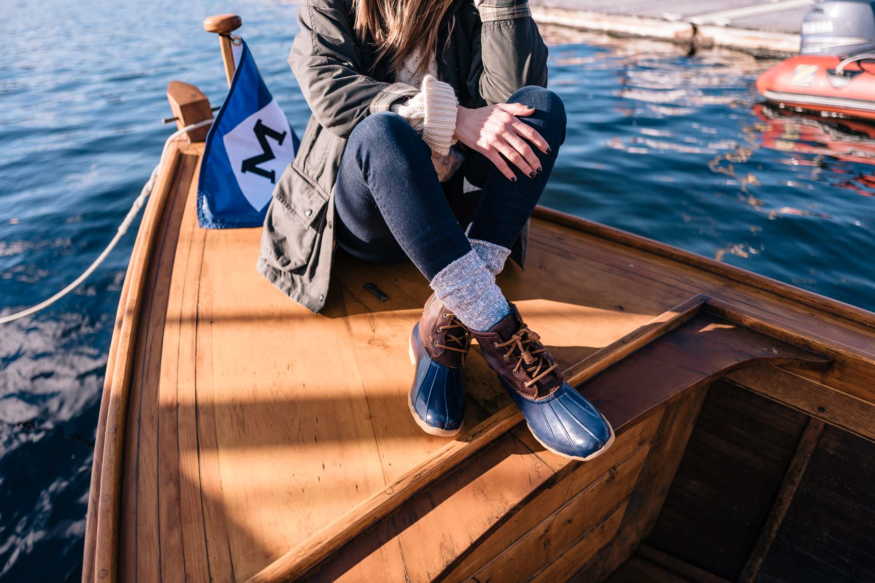 Sperry duck boots are the perfect boot for fall and winter by the water