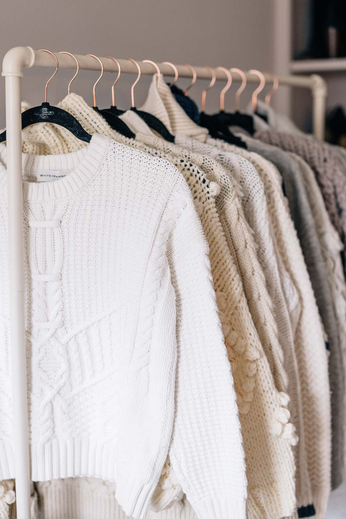 Jess Ann Kirby's chunky knit selection hangs beautifully thanks to her easy sweater-care tips