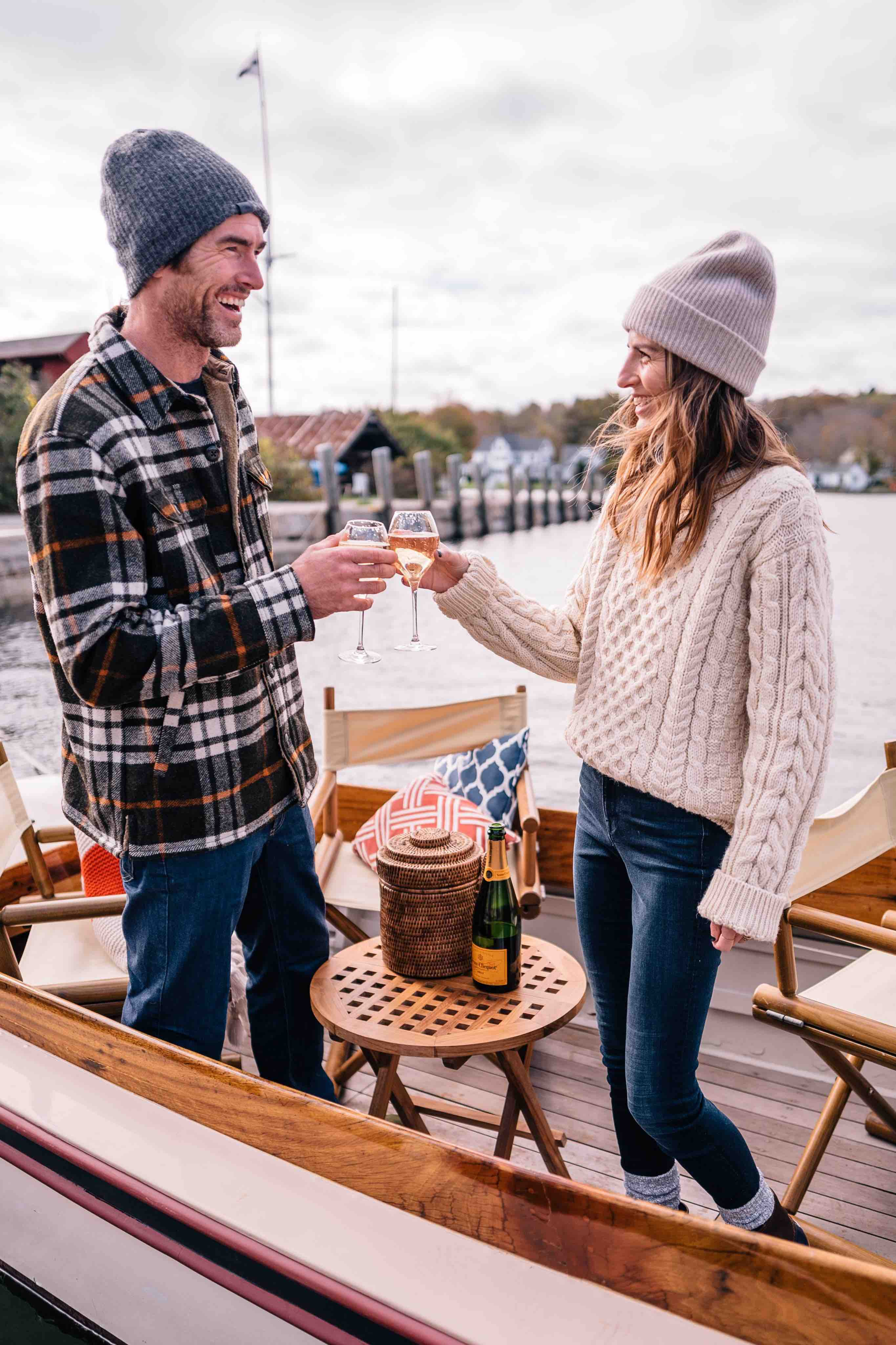 Jess Ann Kirby cheers to her 30th birthday on a boat in Newport