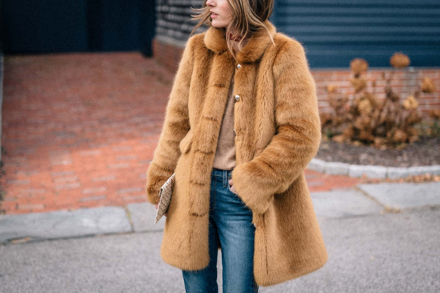 Jess Ann Kirby designs the perfect faux fur coat with Frilly