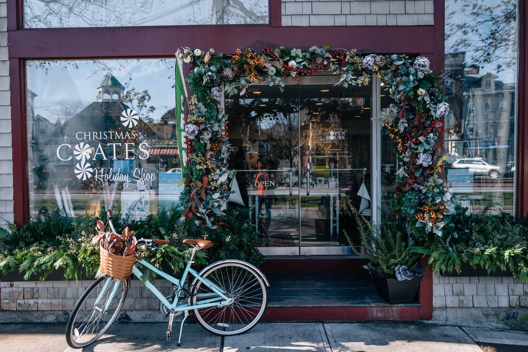 Jess Ann Kirby shares what to do in Newport, Rhode Island for the holidays, like visit Kristen Coates shop