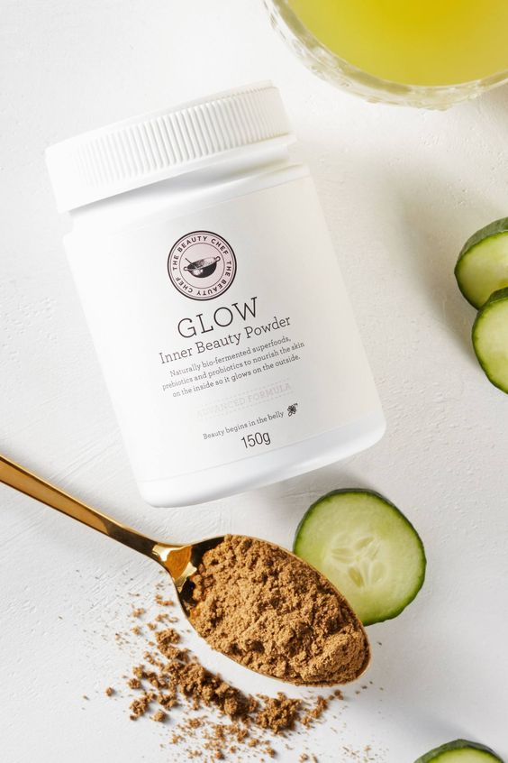 Jess Ann Kirby recommends Beauty Chef inner glow beauty powder as a great supplement to your diet