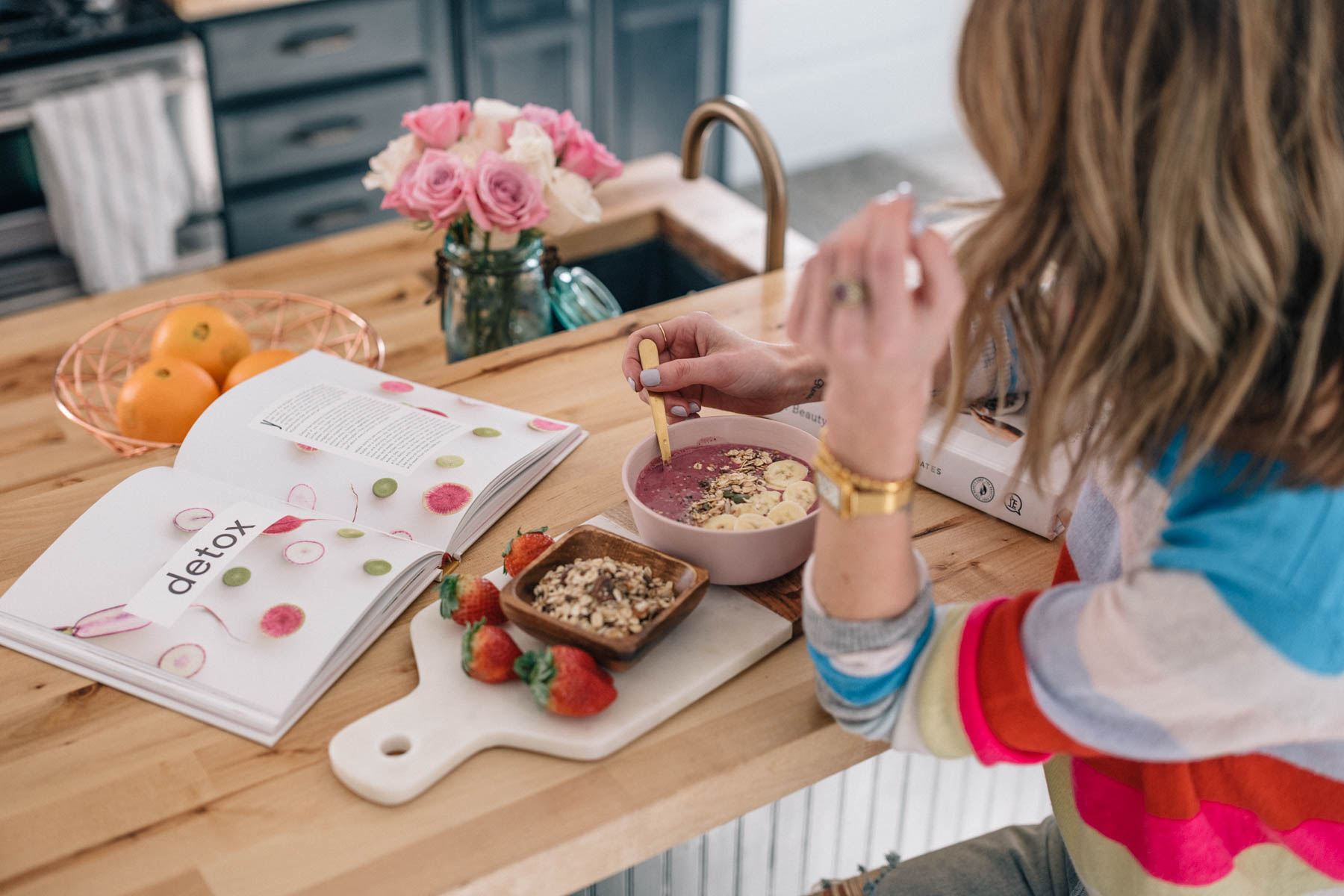 Jess Ann Kirby makes her go-to smoothie bowl recipes for a quick and healthy breakfast or lunch