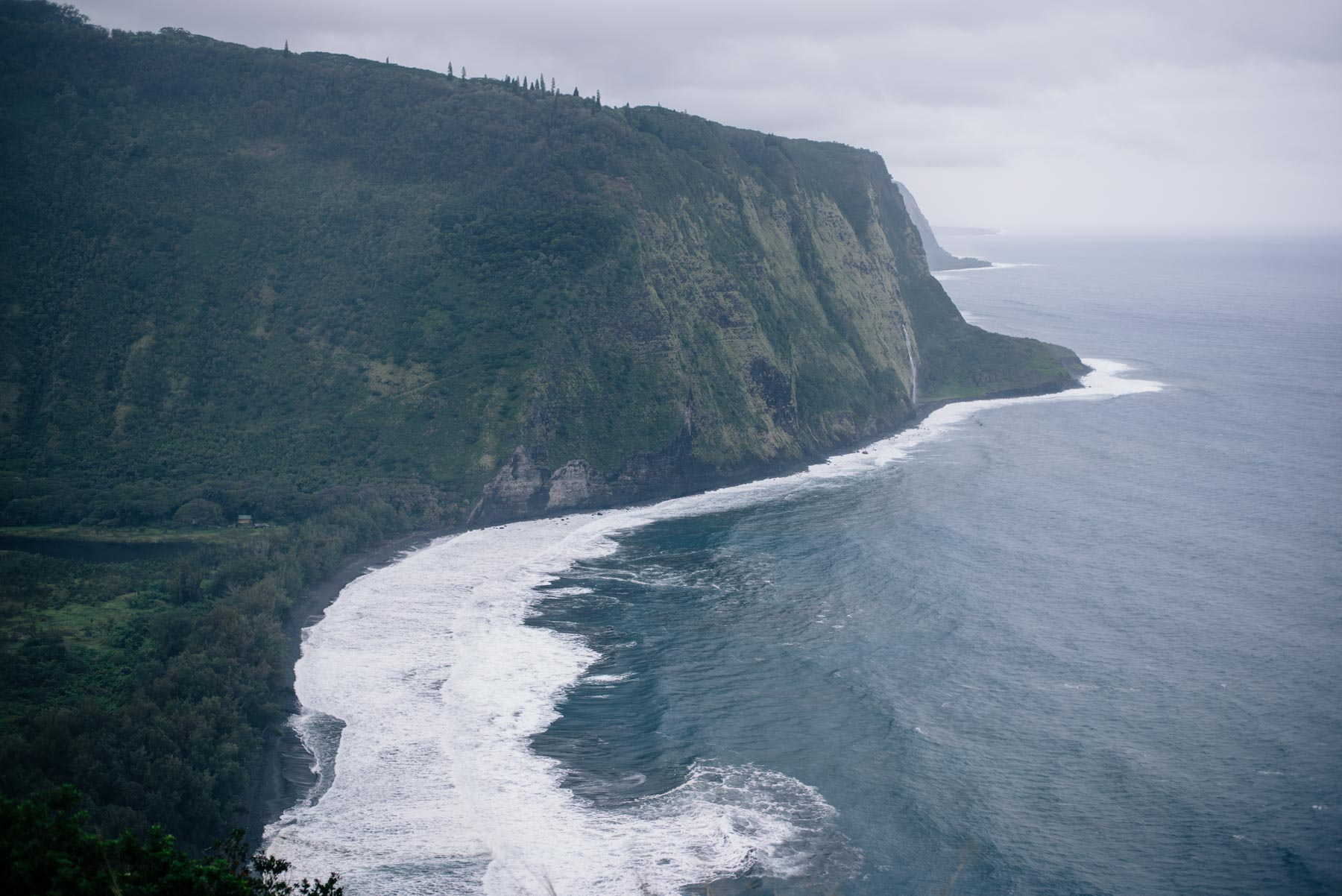 Jess Ann Kirby visits the Waipio Valley Lookout on the Big Island of Hawaii