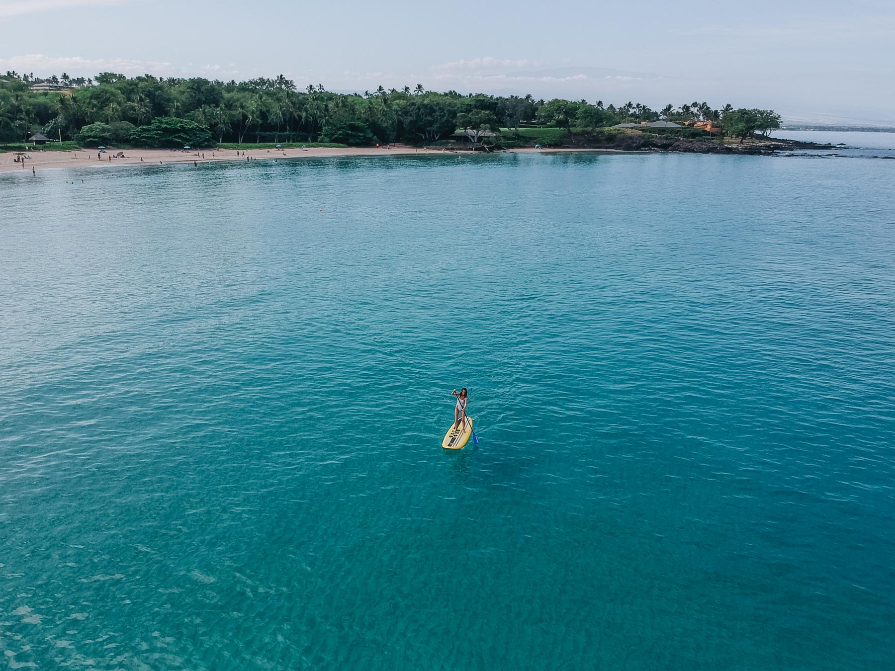 Jess Ann Kirby explores Hawaii with an afternoon paddle boarding on Mauna Kea
