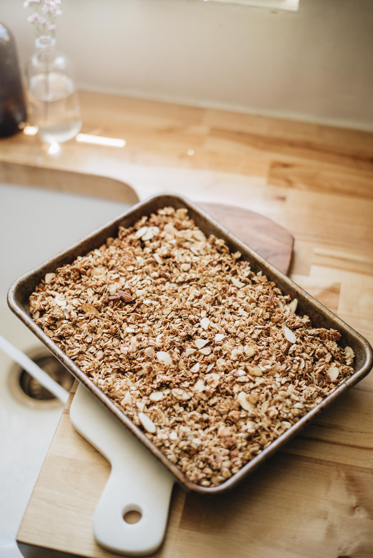 Jess Ann Kirby bakes homemade granola with chia seeds, almonds and oats