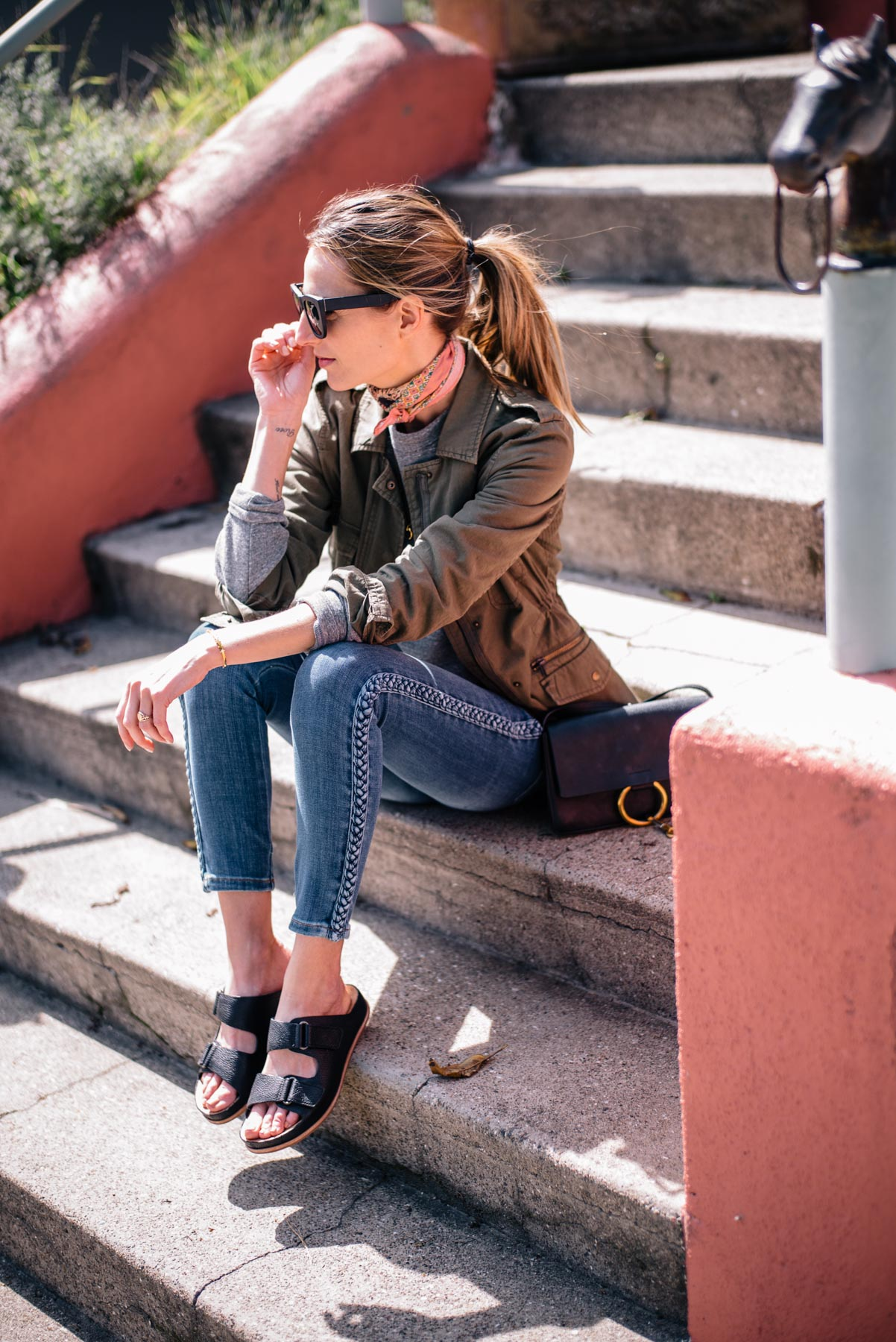 Jess Ann Kirby loves Kork-Ease sandals for comfort during a trip to California