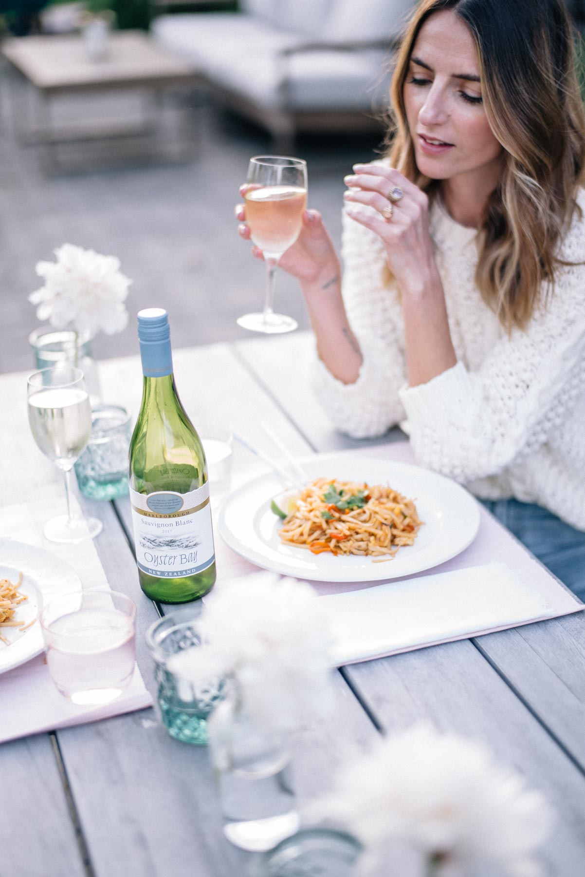 Jess Ann Kirby suggests setting the table and enjoying chilled wine for an at-home date night