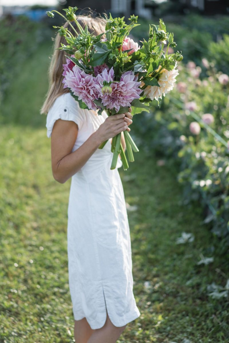 Linen Shirtdress at the Dahlia Shed