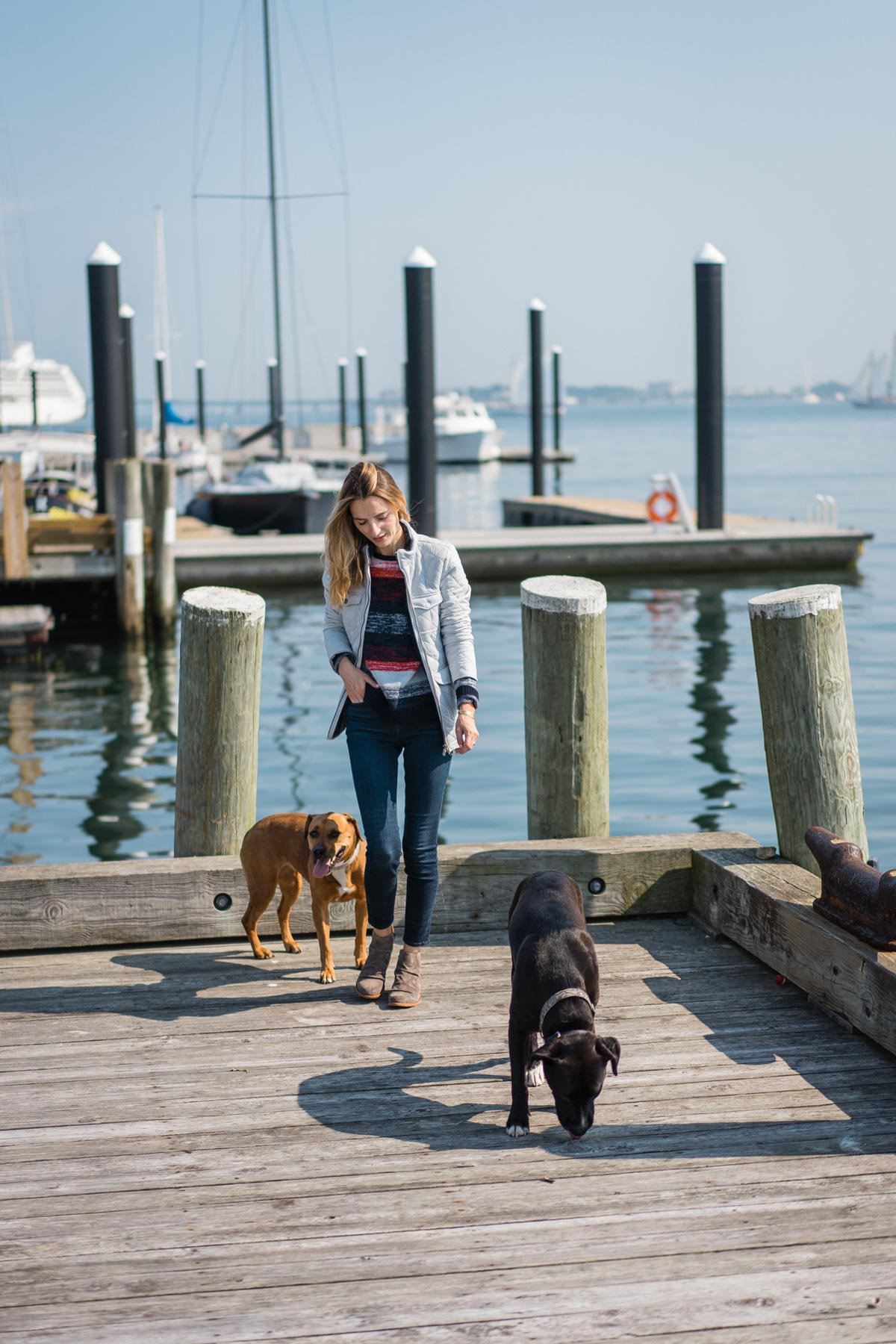 Jess Ann Kirby spends the day in Newport, RI in the Barbour Coastal Collection